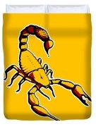 Scorpion Graphic  Duvet Cover by Pixel Chimp
