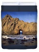 Sea Arch At Pfeiffer Beach Big Sur Duvet Cover by Tim Fitzharris