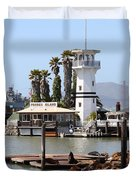 Sea Lions At Pier 39 San Francisco California . 7d14294 Duvet Cover by Wingsdomain Art and Photography