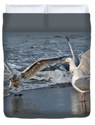 Seagull Treasures Duvet Cover by Debra  Miller
