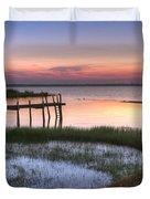 Sebring Sunrise Duvet Cover by Debra and Dave Vanderlaan