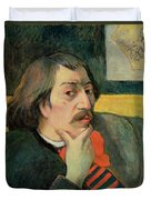 Self Portrait Duvet Cover by Paul Gauguin