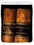 Shakespeare Leather Bound Books Duvet Cover by The Irish Image Collection