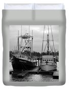 Ships At Anchor Duvet Cover by Jeff Lowe