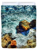 Shores Of The Aegean Duvet Cover by Michael Garyet