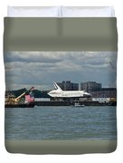 Shuttle Enterprise Flag Escort Duvet Cover by Gary Eason