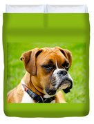 Sidney The Boxer Duvet Cover by Chris Thaxter