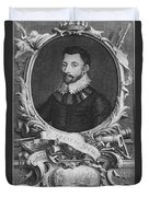 Sir Francis Drake, English Explorer Duvet Cover by Photo Researchers, Inc.