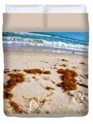 Sitting On The Beach Duvet Cover by Toni Hopper