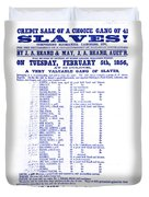 Slave Auction Notice Duvet Cover by Photo Researchers, Inc.