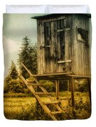 Small Cabin with Legs Duvet Cover by Jutta Maria Pusl