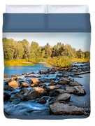 Smooth Rapids Duvet Cover by Robert Bales