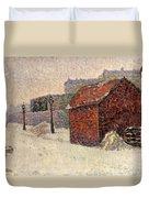 Snow Butte Montmartre Duvet Cover by Paul Signac
