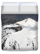 Snow-covered Ngauruhoe Cone, Mount Duvet Cover by Richard Roscoe