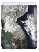 Snow In Korea Duvet Cover by Stocktrek Images