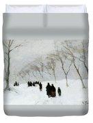 Snow Storm Duvet Cover by Anton Mauve