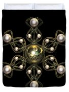 Snowflake Jewel Duvet Cover by Hakon Soreide