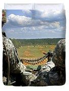 Soldier Feeds Ammunition To His Gunner Duvet Cover by Stocktrek Images