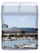 Soldier Field Chicago Duvet Cover by Paul Velgos