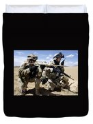 Soldiers Respond To A Threat Duvet Cover by Stocktrek Images