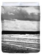 Solitary Man On A Lonely Beach Duvet Cover by Nomad Art And  Design