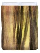 Sourwoods in Autumn Abstract Duvet Cover by Rob Travis