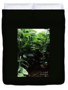 Soybean Leaves Duvet Cover by Photo Researchers
