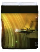 Space Battle With Two Rival Factions Duvet Cover by Corey Ford