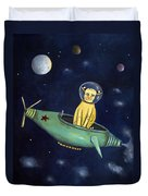 Space Bob Duvet Cover by Leah Saulnier The Painting Maniac