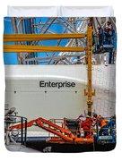 Space Shuttle Enterprise Duvet Cover by Chris Lord