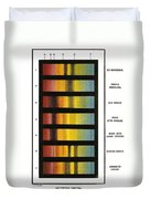 Spectra Chart, Blood Samples, 1894 Duvet Cover by Science Source