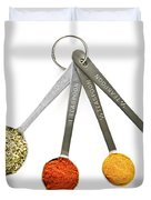 Spices In Measuring Spoons Duvet Cover by Elena Elisseeva