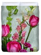 Spray of Flowers Duvet Cover by Judi Bagwell