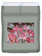 Spring Dogwood Tree Flowers Art Prints Pink Flowering Tree Duvet Cover by Baslee Troutman