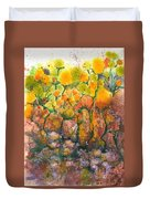 Spring Time Flowers Duvet Cover by Audrey Peaty