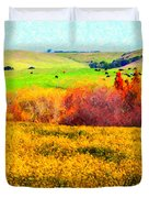 Springtime In The Golden Hills . 7D12402 Duvet Cover by Wingsdomain Art and Photography