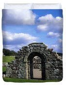 St Brigids Church, Inis Cealtra Holy Duvet Cover by The Irish Image Collection
