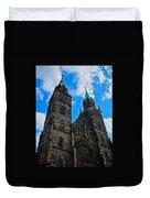 St. Lorenz Church - Nuremberg Duvet Cover by Juergen Weiss