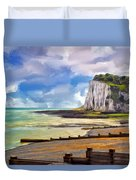 St. Margaret's Bay At Dover Duvet Cover by Dominic Piperata