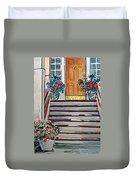 Stairs Sketchbook Project Down My Street Duvet Cover by Irina Sztukowski