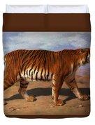 Stalking Tiger Duvet Cover by Rosa Bonheur
