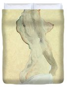 Standing Female Nude Duvet Cover by Egon Schiele