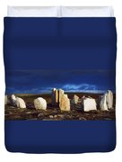 Standing Stones, Blacksod Point, Co Duvet Cover by The Irish Image Collection