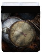 Steampunk - Gauge For Sale Duvet Cover by Mike Savad