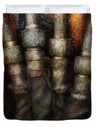 Steampunk - Pipes Duvet Cover by Mike Savad