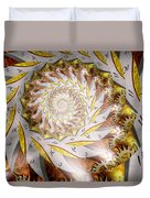 Steampunk - Spiral - Time Iris Duvet Cover by Mike Savad