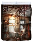 Steampunk - Machinist - The Grinding Station Duvet Cover by Mike Savad