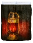 Steampunk - Red Light District Duvet Cover by Mike Savad