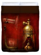 Steampunk - The Torch Duvet Cover by Mike Savad