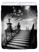Steps At Chateau Vieux Duvet Cover by Simon Marsden